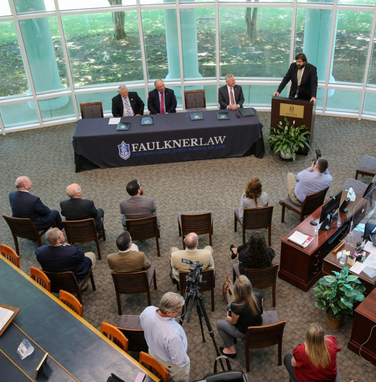 Faulkner Law hosts a memorandum of understanding signing event on June 1, 2021 to establish a three-year Alabama Ag Law Pathway.
