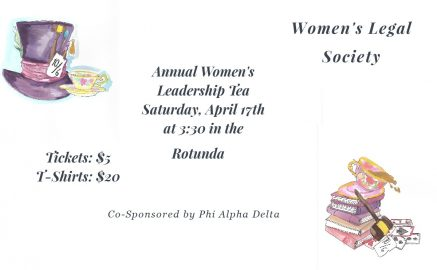 Invitation to the Women's Legal Society Tea Party